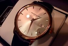 MEN NEW RAYMOND WEIL 5488-PC-65001 DATE QUARTZ THIN LEATHER SWISS FREE SHIPPING