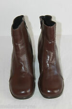 Bottines Boots PRIMA Cuir Marron Cognac T 6 US / T 37.5 FR  BE