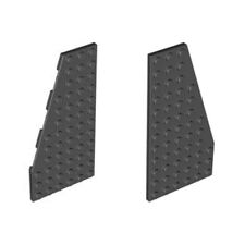 LEGO Black Wedge, Plate 6 x 12 Left 4143180 30355 + Right 4143181 30356