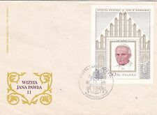 Poland 1979 Visit of Pope Paul II M/S FDC