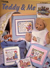 PATTERN cross stitch leaflet TEDDY AND ME bear sayings BABY NURSERY CHILDREN new