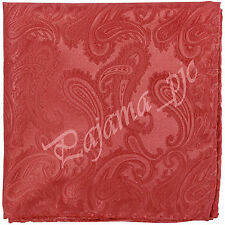 Brand Q Paisley Handkerchief Only Pocket Square Hanky Coral Red Wedding Party