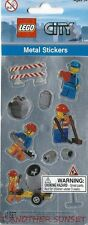 Lego City Metal Stickers Construction Worker Crew Scrapbook Party Supply NEW