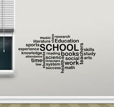 School Wall Decal Words Cloud Art Education Quote Vinyl Sticker Decor 109quo