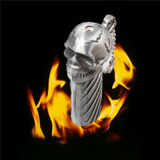 Silvery Skull Torch Lighter Windproof Refillable Easily for Gift/Collection