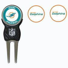 Miami Dolphins NFL Team Golf Divot Tool with 3 Magnetic Ball Markers