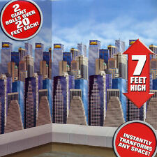 MARVEL SCENE SETTER Party Room Roll Party Supplies Decoration Skyline Heroes NEW