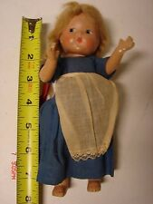 VINTAGE 8 INCH COMPOSITION DOLL MARKED VOGUE TODDLES PAINTED FACE GINNY SIZE