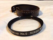 Nikkor F Close-Up Filter Lense Nikon No. 0 52mm & Brown Leather Case