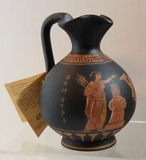 dsa 210 ANCIENT GREEK ATTIC POTTERY REPRODUCTION DEMETER, artist signed with tag