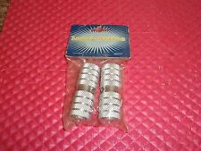 NOS 1980'S BMX FREESTYLE  AXLE PEGS FORK  STANDERS FITS 24 OR 26 TPI SILVER
