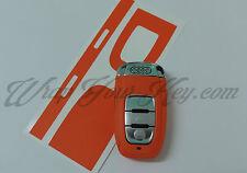 Fierce Orange Mat Key Wrap Cover Audi SMART Remote A1 A3 A4 A5 A6 A8 TT Q3 5 Q7