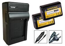 2 x Patona-Akku + Ladegerät für Sony Alpha 7 II (ILCE-7M2) - NP-FW50