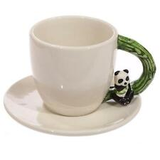 Panda Lover Gift - Beautiful Italian Mug and Saucer With Panda ECP03-PU