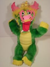 Vintage Haw Par Villa Dragon World Singapore Plush Stuffed Green Chinese Dragon