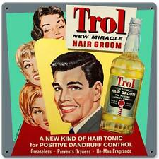 Vintage Retro Trol Miracle Hair Groom Metal Sign Unique Wall Shop Decor RPC076