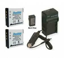 TWO Batteries + Charger for Fuji FujiFilm F660EXR F750EXR F770EXR F800EXR XP100