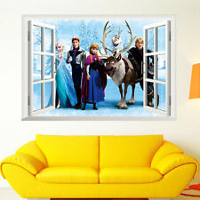 DISNEY Elsa Anna FROZEN Wall Stickers Decal Removable Home Decor Kids Art Mural