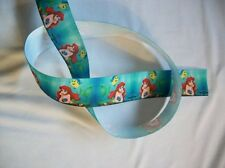 "1"" 25mm DISNEY MERMAID ARIEL GROSGRAIN RIBBON 3YARDS Hair Bow DIY /Head Band"