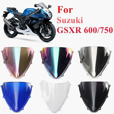 Double Bubble Windshield Windscreen Screen For Suzuki GSXR 600/750 2006-2007 K6
