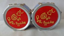 "The Beatles 2000 Vandor ""LOVE DRUM"" Salt and Pepper Shaker #H349"
