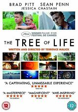 The Tree Of Life Brad Pitt, Sean Penn, Jessica Chastain, Hunter NEW UK R2 DVD