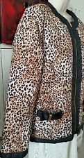 BNWT Queenspark Black with  Animal print size 14/L  Jacket/Vest/Coat
