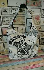 Harry potter shopper handbag large hogwarts school college bag handmade white