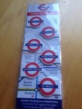 London Underground Tfl Central Line 6 Magnetic Mini Page Markers Tube