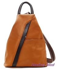 Handbag Bliss Genuine Italian Soft Leather Rucksack Backpack and Shoulder Bag