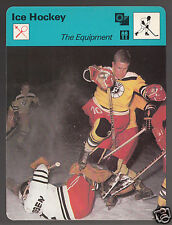 FUSSEN West Germany Ice Hockey The Equipment 1978 SPORTSCASTER CARD 21-12A