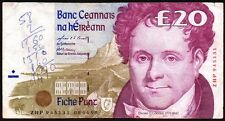 1998 CENTRAL BANK of IRELAND £20 BANKNOTE * ZNP 945131 * F-gF *