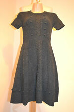 HOBBS LONDON NW3 TIMELESS CLASSIC CHARCOAL GREY WOOL BLEND JUMPER DRESS UK6 VGC