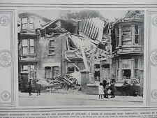 1914 HARTLEPOOL BOMBARDMENT CLEVELAND ROAD WRECKAGE WWI WW1