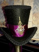 Mini Steampunk Tea Party Fascinator Cosplay Top Hat Gothic Mad Hatter Mardi Gras