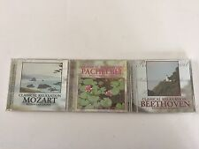 Lot of 3 Classical Relaxation Ocean Sounds, Beethoven, Mozart & Pachelbel CDs