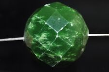 19mm Natural Chinese Lime GREEN TURQUOIS Fctd Large Round Bead Pendant- P0965