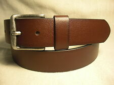 Non-Branded Brown Synthetic Leather Lined on Genuine Leather Belt Sz 36 NWT $28