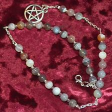 Witches Ladder Meditation Beads Botswana Agate Pagan/Wiccan/Druid