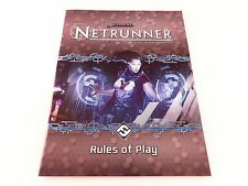 Netrunner Replacement Game Parts Rules of Play Instruction Booklet - New