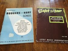1930's piano music, boogie woogie method , rogers and hart songs