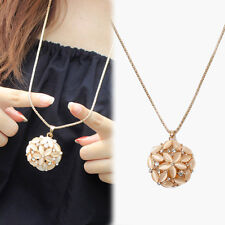 Elegant Crystal Rhinestones Pendant Necklace Long Sweater Chain Jewelry GRO