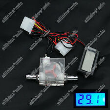 Flow Scout Meter And Digital Thermometer For Water Liquid Cooler System CPU cool