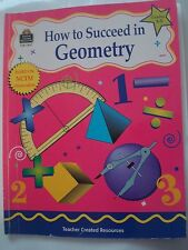 TCR How to Succeed in Geometry,Grades 3 - 5, Math Workbook w/ Answers, NCTM