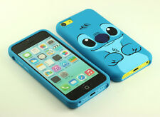 for Apple iPhone 5C Cute Disney Stitch Front + Back Case cover defender Pouch