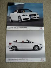 AUDI A3 CABRIOLET S LINE  PRESS PHOTOS x 2 Brochure related jm