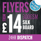 Flyers / Leaflets / Full Colour / Printed onto 300gsm Thick Silk Board A4/A5/A6