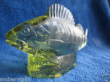 Sweden Kosta Paul Hoff glass abborre perch figurine sculpture WWF animals fish