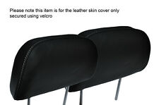 GREY STITCH 2X FRONT HEADREST LEATHER SKIN COVERS FITS HONDA PRELUDE 1986-1991