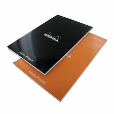 Rhodia No.19 8.25 x 12, 80 Sheet, Dot Paper Pad, Black & Orange- R19559-R19558